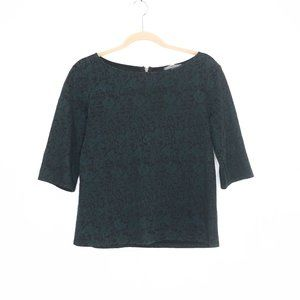 Michael Stars | Embossed Boat Neck 3/4slv Tops S